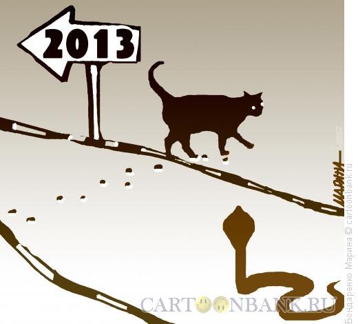 Карикатура: 2013,год змеи, Бондаренко Марина