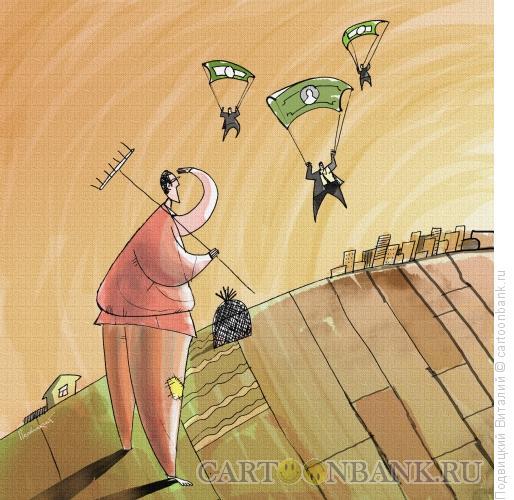 Карикатура: Деньги в регионы, Подвицкий Виталий