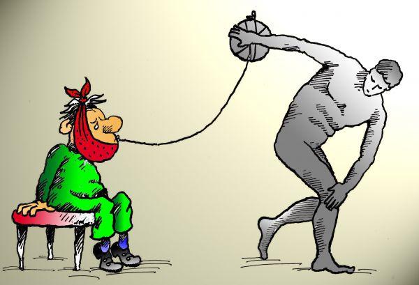 Карикатура: Без слов, Николай Кинчаров