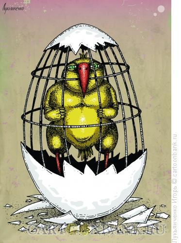 Карикатура: Клетка, Лукьянченко Игорь