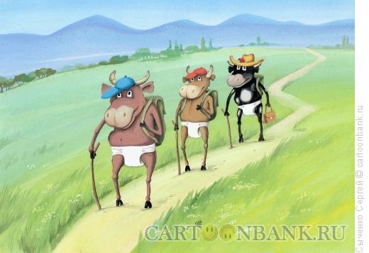 Карикатура: Туристы, Сыченко Сергей
