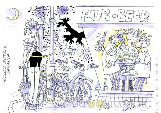 Карикатура: Велопарковка, Гуцол Олег