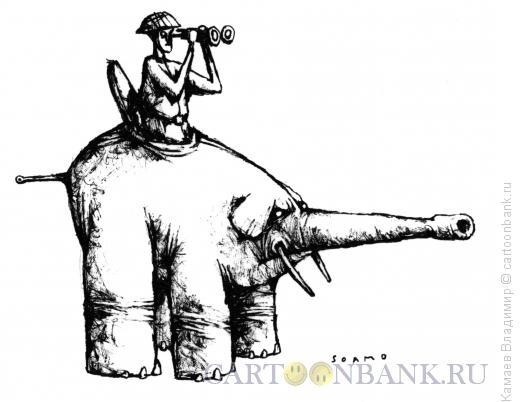Карикатура: Боевой слон, Камаев Владимир