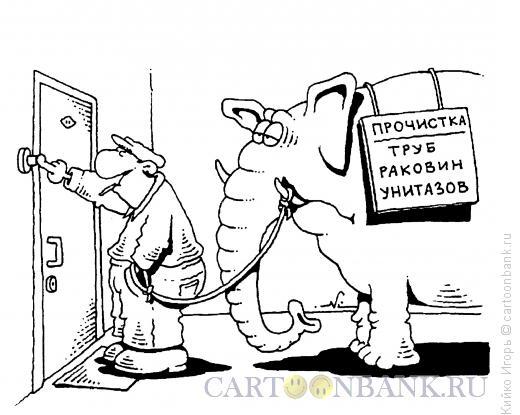 Карикатура: Применение слона, Кийко Игорь