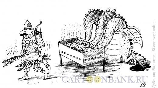 Карикатура: Мангал, Дубинин Валентин