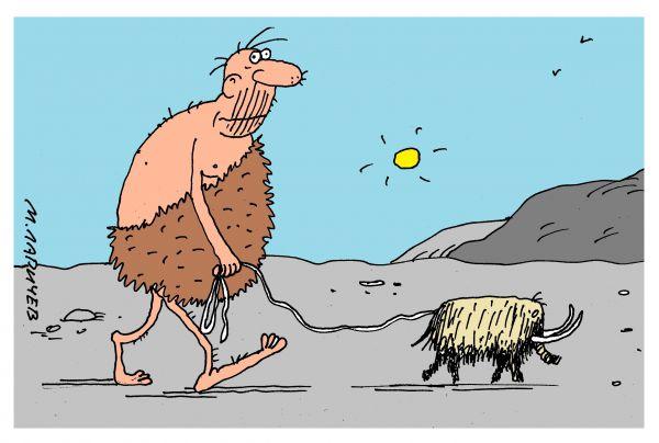 Карикатура: мамонт, михаил ларичев