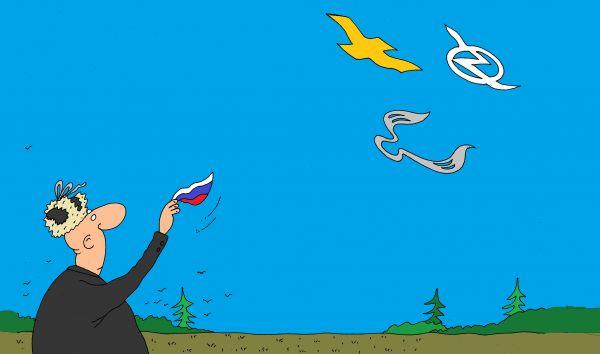 Карикатура: до свиданья, михаил ларичев