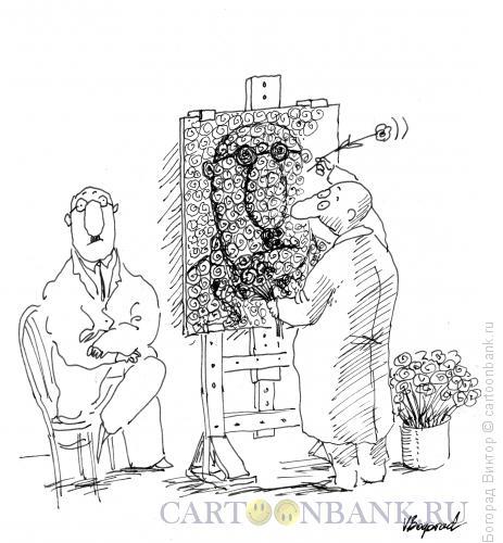 Карикатура: Художник- флорист, Богорад Виктор