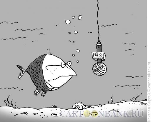 Карикатура: На крючке, Кокарев Сергей