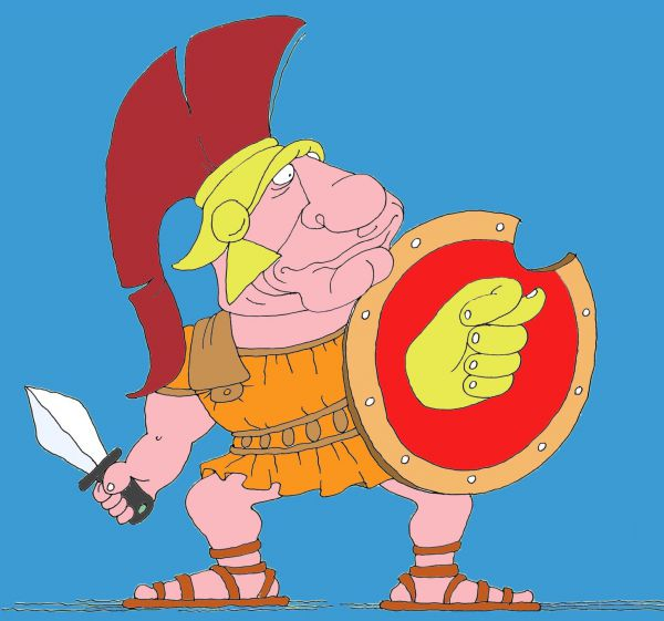 Карикатура: Спартак, михаил ларичев