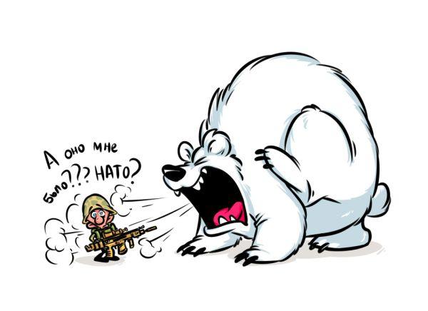 Карикатура: Оно мне было НАТО?