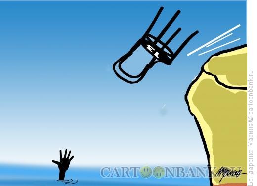 Карикатура: Стул - спасатель, Бондаренко Марина