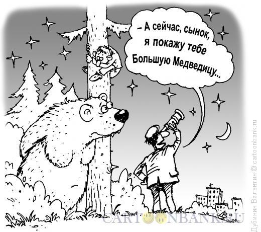 Карикатура: Большая медведица, Дубинин Валентин