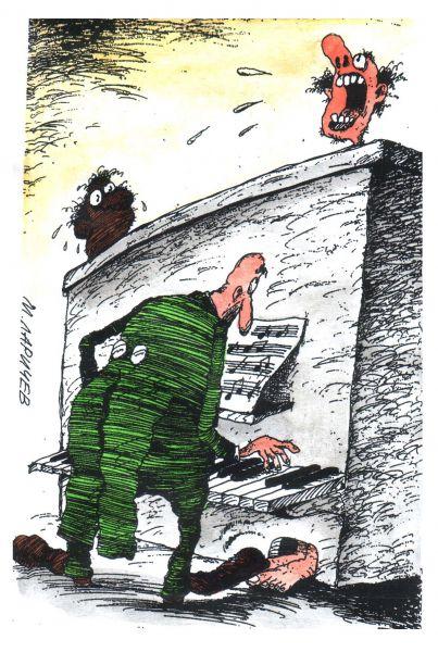 Карикатура: клавиши, михаил ларичев