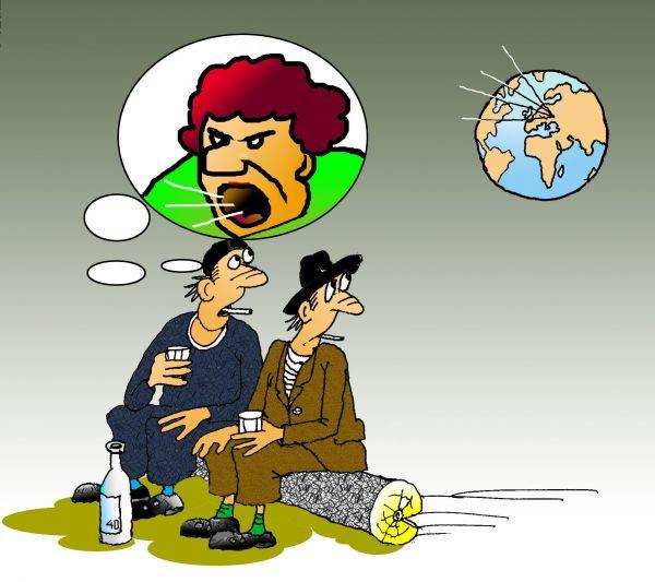 Карикатура: Уже чудится, Николай Кинчаров