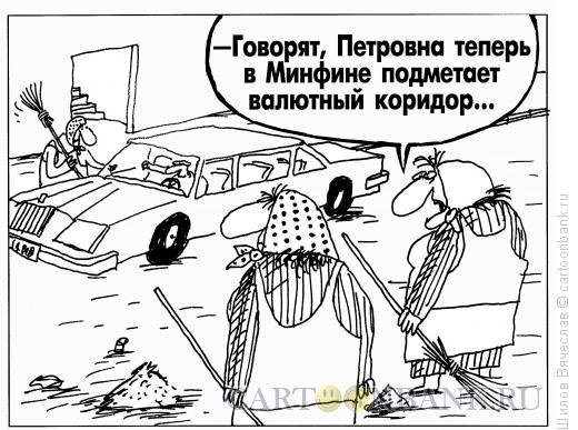 Карикатура: Валютный коридор, Шилов Вячеслав