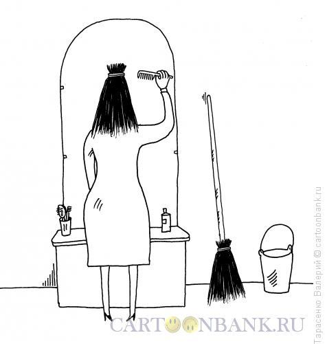 Карикатура: Стильная прическа, Тарасенко Валерий