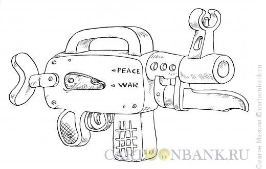 Карикатура: Автомат, Смагин Максим