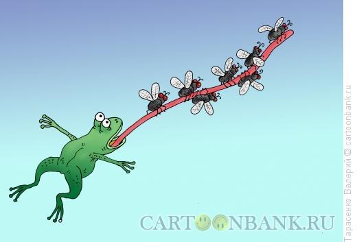 Карикатура: Лягушка-пилот, Тарасенко Валерий