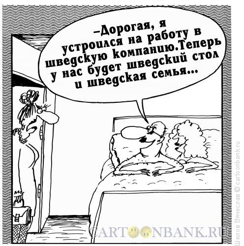 Карикатура: Шведская семья, Шилов Вячеслав