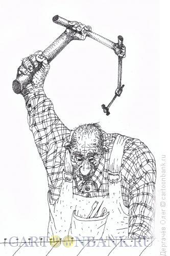 Карикатура: Супермолоток, Дергачёв Олег