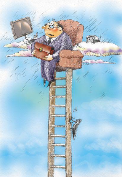 Карикатура: высота, Сердюкова Алла