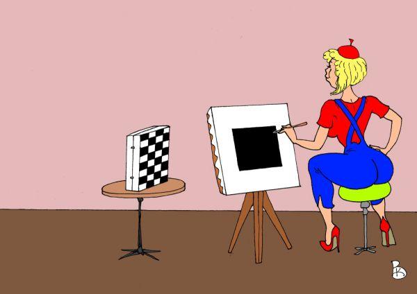 Карикатура: Изящная подделка, Валерий Каненков
