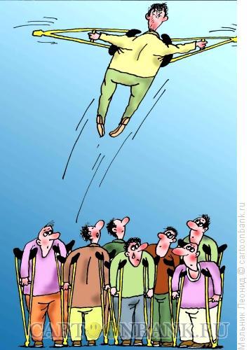 Карикатура: полет на гнездом идиотов, Мельник Леонид