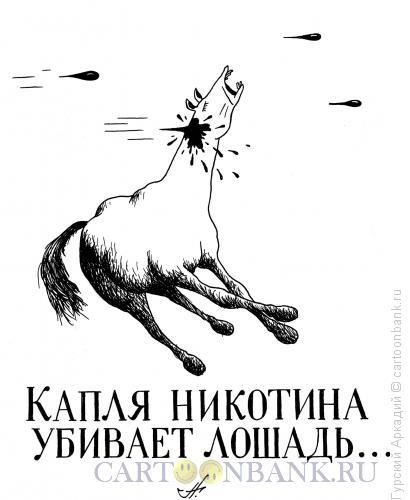 Карикатура: лошадь и никотин, Гурский Аркадий
