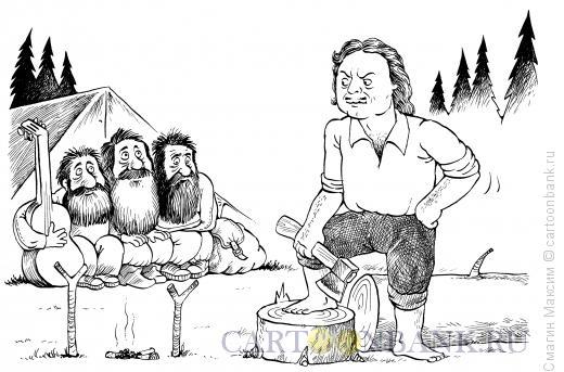 Карикатура: Петр и барды, Смагин Максим
