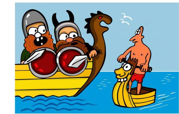 Карикатура: Аквабайкер, somnambula