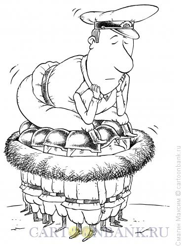Карикатура: Командир-наседка, Смагин Максим