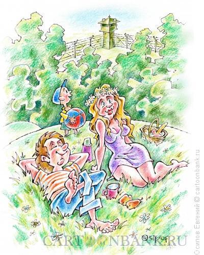 Карикатура: пикник на зоне, Осипов Евгений