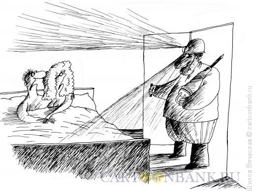 Карикатура: Шахтер и любовники, Шилов Вячеслав