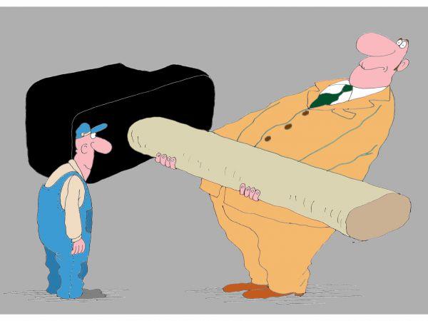 Карикатура: Работа, Михаил ларичев