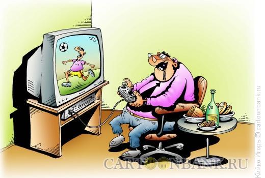 Карикатура: Фанат, Кийко Игорь