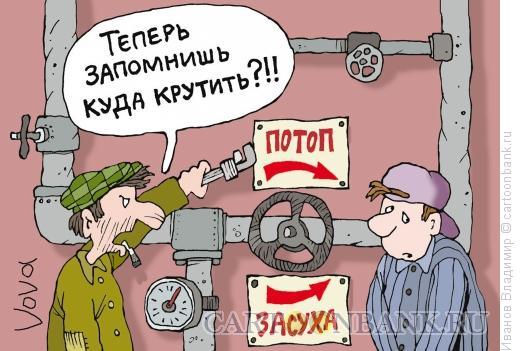 Карикатура: Куда крутить, Иванов Владимир