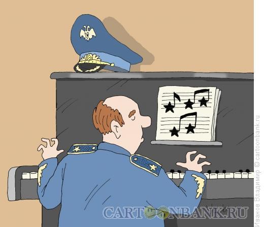 Карикатура: Военный марш, Иванов Владимир