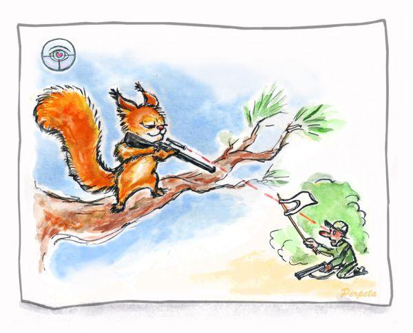 Карикатура: Белки. Ответный удар., Perpeta