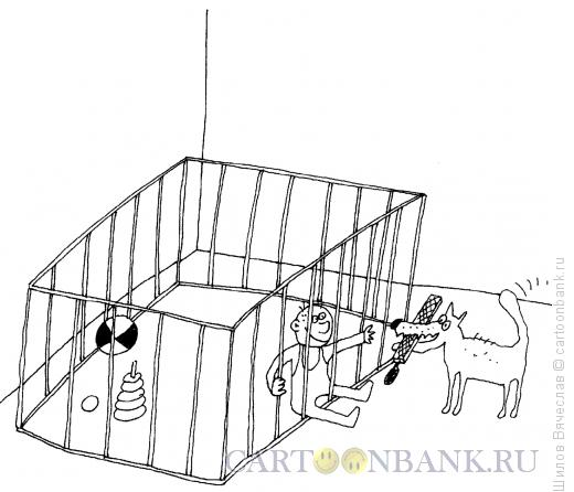 Карикатура: Собака с напильником, Шилов Вячеслав