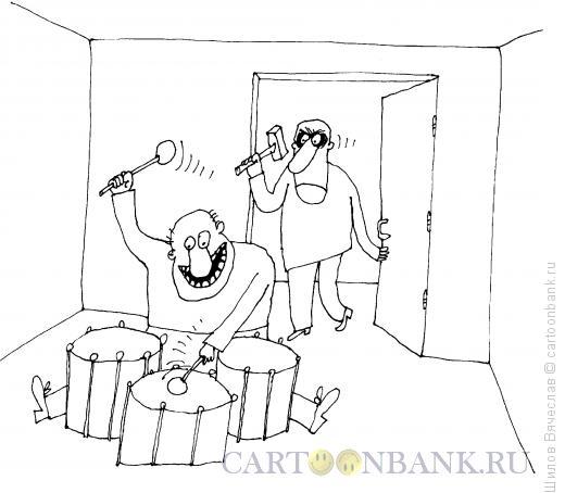 Карикатура: Барабаны, Шилов Вячеслав