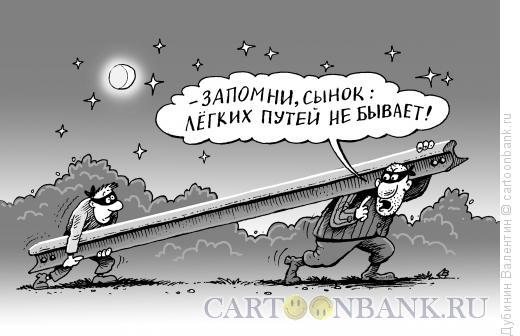 Карикатура: Не лёгкий путь, Дубинин Валентин