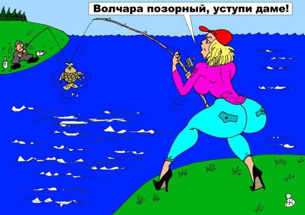 Карикатура: Красная бейсболочка, Валерий Каненков