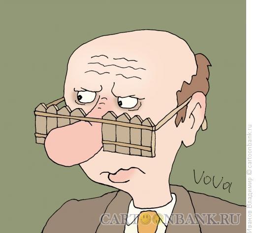 Карикатура: За забором, Иванов Владимир