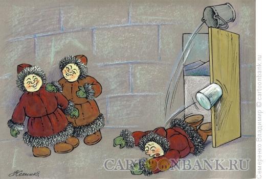 Карикатура: Зимние забавы, Семеренко Владимир