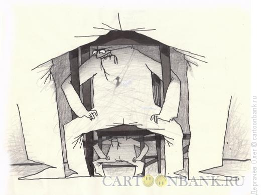 Карикатура: Стулья, Дергачёв Олег