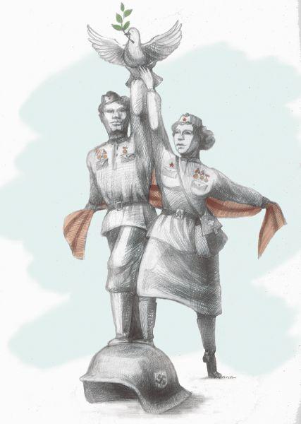 Карикатура: Герои, Сердюкова Алла