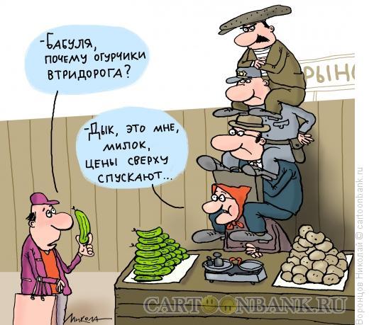 Карикатура: Рынок, Воронцов Николай