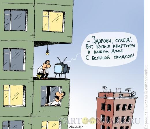 Карикатура: Квартира со скидкой, Воронцов Николай