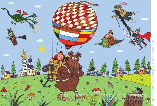 Карикатура: История воздухоплавания в России, Белозёров Сергей